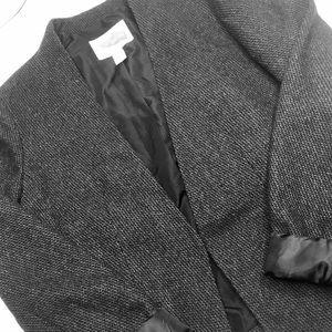 Forever 21 black tweed blazer coat XS